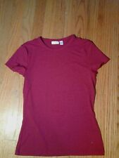 Ladies APT. 9 Fuschia Pink Stretch T-Shirt Top Size S EUC