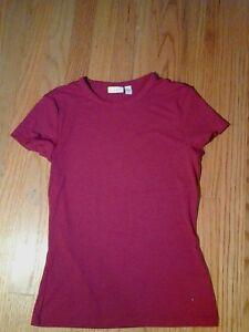 New Bebe Womens Seamless Cap Sleeve Scoop Neck T Shirt Top Hot Pink S $28
