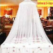 White Lace Bed Mosquito Netting Mesh Canopy Princess Round Dome Bedding Net