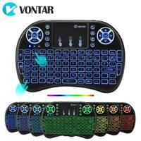 Vontar I8  2.4G Mini Wireless Keyboard 7 Colors Backlit English Russian Touchpad