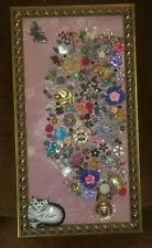 Vintage Jewelry Art Picture~Tree of Life, frames, and signed
