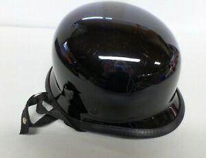 Novelty Motorcycle Helmet German Style Gloss Black NOT Protective Headgear XXL