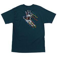 Santa Cruz Screaming Hand Wired Skateboard T Shirt Navy Large