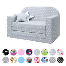 LULANDO Classic Kindersofa Kindersessel Kindercouch Sofa Bettfunktion Möbel