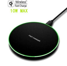 US 10W Fast Qi Wireless Charger Pad Mat For iPhone 11 11Pro 8 XS Samsung S20 S10