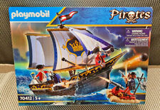 PLAYMOBIL the Longboat Of Soldier And Pirates Ref 70412 Box New 87 Parts