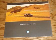 Original 1987 Volkswagen VW Jetta Deluxe Sales Brochure 87