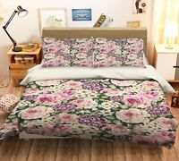 3D Pink Peony ZHUA596 Bed Pillowcases Quilt Duvet Cover Set Queen King Zoe