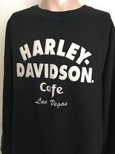 HARLEY-DAVIDSON CAFE LAS VEGAS CREWNECK SWEATSHIRT ~ Black ~ XXL ~ Harley ~Vegas