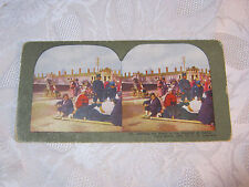 WAITING FOR ROOM IN THE HOSPITAL AT DALNY  STEREOVIEW CARD     T*