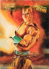 1995 FLEER ULTRA SPIDER-MAN GOLD FOIL SIGNATURE SERIES CARD #50 SHOCKER
