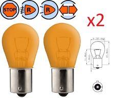 2X LAMPADINA 12V 21W BAU15S PY21W ARANCIONE AUTO LAMPEGGIANTE LAMPADA FARO