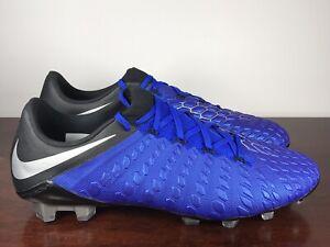Men's Nike Hypervenom Phantom 3 Elite DF FG Blue Soccer Cleats AJ3805-401 Sz 10