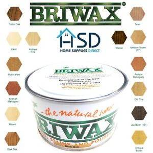 Briwax Original Natural Wax Polish 400g Wood Furniture Cleaner Stain Restorer