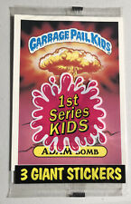 1986 Topps Garbage Pail Kids Giant Series 1 Stickers  # 8 ADAM BOMB # 34 On Back