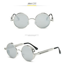 c44340491f6 Luxury Women Men BRAND Design Oversized Semi-rimless Mirror Round  Sunglasses Gray F Silver C5