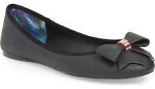 248f427c0997d7 NIB Ted Baker Immet 3 Black Bow Ballet Flat Shoes Sz 8 UK 5.5 EU 38.5