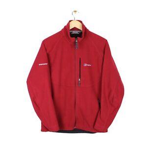 Berghaus Windstopper Mens Full Zip Red Softshell Hiking Fleece Jacket - Size M