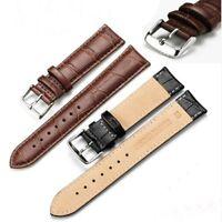 Uhrarmband Uhrenband Uhrband Schließe Leder-Band matt Kroko Alligator-Prägung