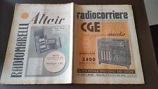 RADIOCORRIERE anno 15 n. 17 1939 - RADIO CGE - BICICLETTA BIANCHI -  6/17