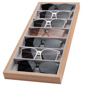 Holz Vorlagebrett 7 Brillen Brillenpräsentation Brillenbox Brillenaufbewahrung