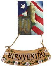Puerto Rico Flag & Garita del Diablo Enter Home Decoretion Bienvenido Plaques