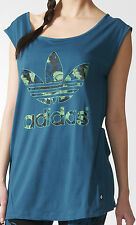 SIZE WOMENS 10 - ADIDAS ORIGINALS HAWAII TREFOIL LOGO TEE SHIRT TOP - PETROL