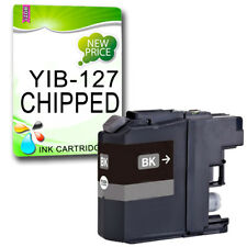 1 Black CHIPPED Ink Cartridge For LC127 DCP-J4110DW MFC-J4410DW MFC-J4510DW