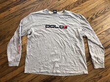 Vintage Ralph Lauren Hiking Rock Climbing POLO SPORT 2002 L/S T-Shirt Sz XL Rare