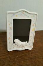 Baby Photo Frame Nursery Decor with Rocking Horse Design Baby Gift EUC