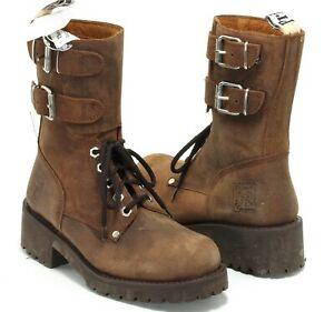 133 Stiefel Leder Prime Boots Schnürschuhe 10 Loch Worker Country Western 38
