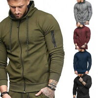 Mens Hoodie Sweater Slim Fit Casual Jacket Sport Cardigan Sweatshirt Pullover 50
