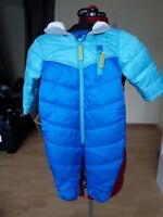 NEW MARKS AND SPENCER KIDS BLUE SNOWSUIT - UK SIZE 6-9 MNTHS