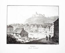 c1830 Ljubljana Laibach Slowenien Slovenia Lithographie-Ansicht Wolf Maurer