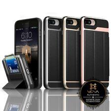 Para iPhone 8 Plus 7 vena vcommute Cuero Billetera Tarjeta Cartera Plus Base Rebatible