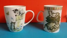 Jan Pashley and Johnson brothers cat mug NEW