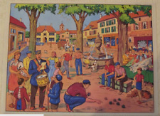 Map Expo School Poster set table The game of Pétanque in Provence Village
