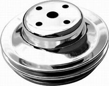 BBC Double Groove Water Pump Upper Pulley LWP Polished Aluminum RPC R8844POL