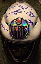 Edmonton Oilers 2017-2018 Signed Autographed Team Goalie Mask Proof Drasaitl ++
