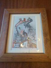 Framed Vintage Ernest Aris Mrs Mouse's Washday Print.
