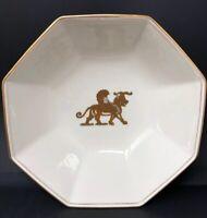 Vintage Fitz & Floyd Alexandria Octagon Bowl Gold winged lion.