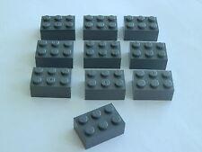 Lego 3002# 10x Basic Steine 2x3 hoch in grau neu dunkelgrau