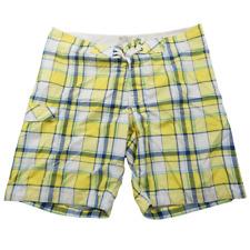 Old Navy Yellow Multicolor Plaid Swim Trunk Shorts Men's Size XL