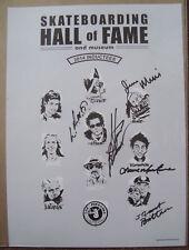 2014 Skateboard Hall of Fame Poster Signed Lance Mountain Bones Brigade Dogtown