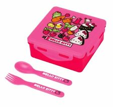 Hello Kitty Lunch Container : Bento Box with Fork and Spoon