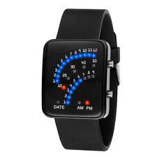 Black Men Womens Watches Silicone Band Digital LED Sport Wrist Watch