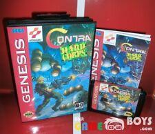 Contra Hard Corps Cartridge SEGA Genesis Complete Boxed with Manual USA NTSC-U/C