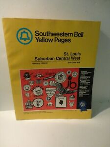 1989 St Louis Missouri Southwestern Bell Telephone Directory Yellow Pages