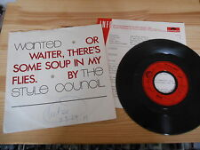 "7"" Pop Style Council - Wanted (3 Song) POLYDOR Paul Weller Jam / + Presskit"