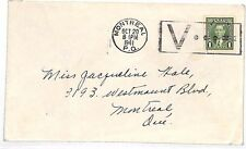 VV80 1941 Canada WW2 VICTORY MAIL Montreal SLOGAN Cover {samwells-covers}